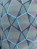 Автоткань для обшивки автосалонов машин ширина-180см сублимация ромбики авто-2019, фото 1