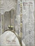 """Сумочка """"Камея"""" на ланцюжку з іспанського мережива з прикрасою з квітів, фото 2"""