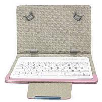 """ϞЧехол Lesko 7"""" + kayboard WL Pink для планшета электронных книг с клавиатурой беспроводная Bluetooth, фото 2"""