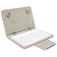 """ϞЧехол Lesko 7"""" + kayboard WL Pink для планшета электронных книг с клавиатурой беспроводная Bluetooth, фото 3"""
