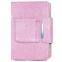 """ϞЧехол Lesko 7"""" + kayboard WL Pink для планшета электронных книг с клавиатурой беспроводная Bluetooth, фото 6"""