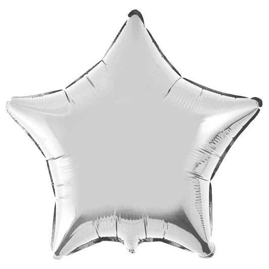 Фольгированный шар 18' Flexmetal Звезда серебро металлик, 45 см
