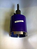 Алмазная коронка по керамограниту армобетону кирпичу, SDS-PLUS 72 мм. CRAET STONE