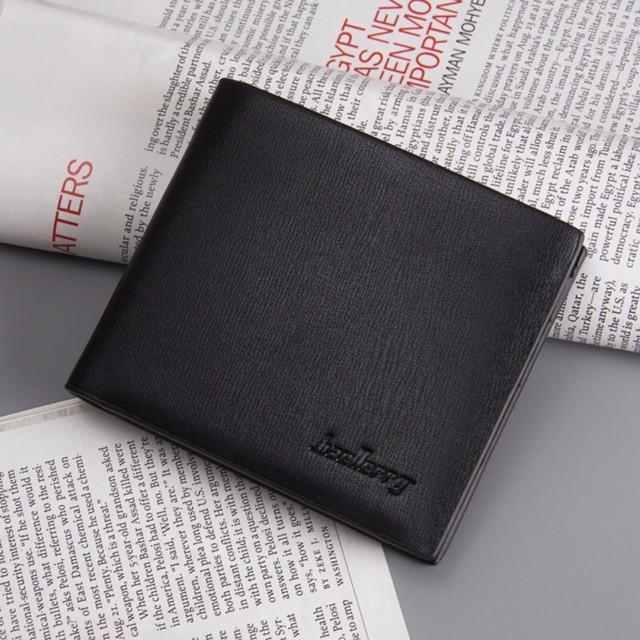 Компактный мужской бумажник Baellerry Short R1865 черный
