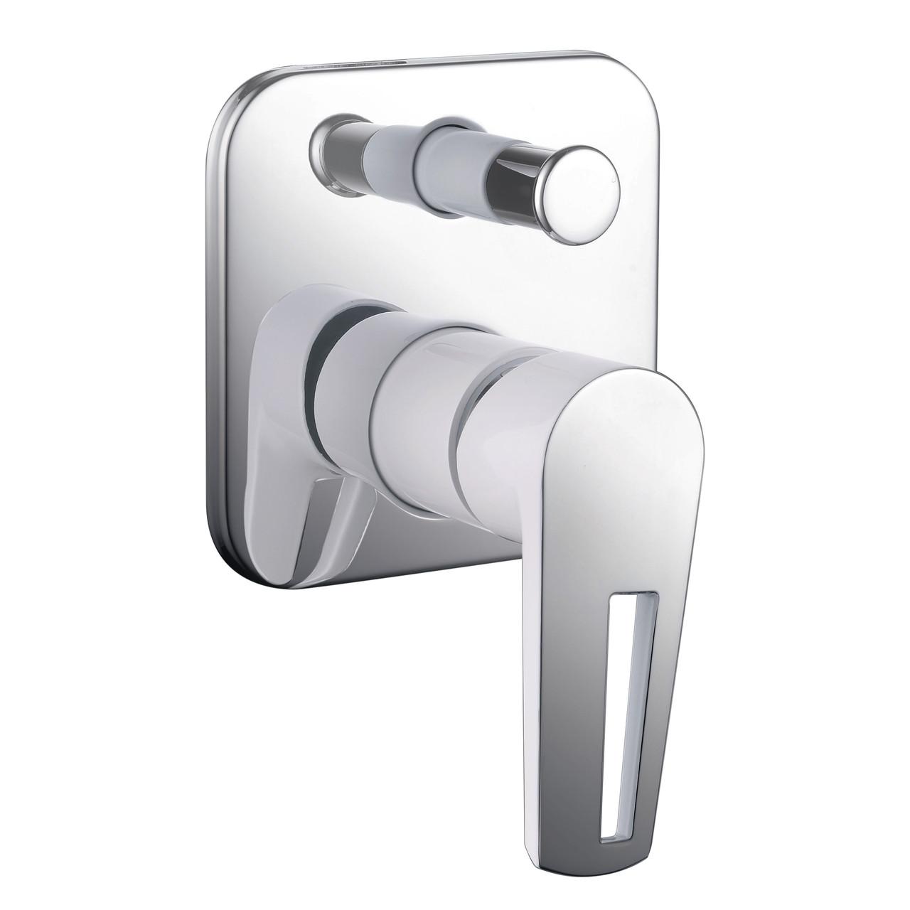 Змішувач для ванни і душу прихованого монтажу Imprese Breclav VR-10245WZ Хром/білий