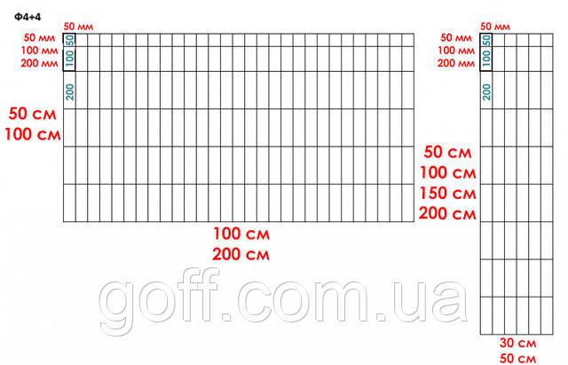 Сетка комплектующая для габиона ø4мм 50х200мм сварная оцинкованная
