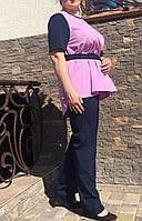 Женский брючный летний костюм больших размеров