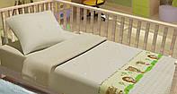 Детское постельное белье для младенцев Kidsdreams - Лісові звірята бежевое