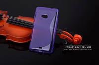 TPU чехол для Microsoft Lumia 640 фиолетовый, фото 1