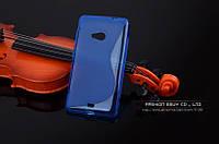 TPU чехол для Microsoft Lumia 640 синій, фото 1