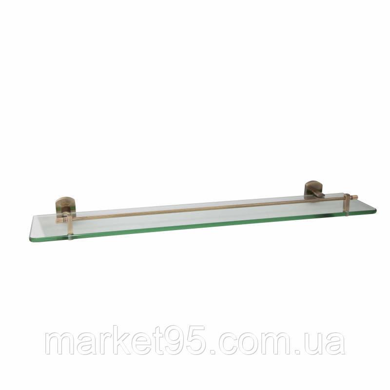 Скляна поличка у бронзі 60 см