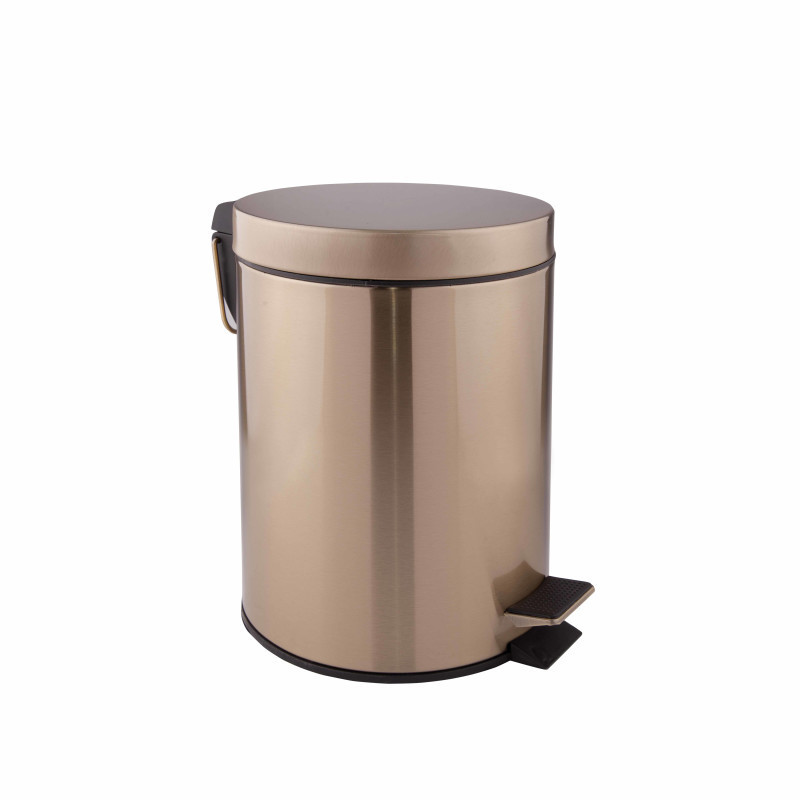 Ведро для мусора 5 л  в бронзе