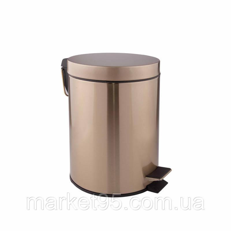 Відро для сміття 5 л у бронзі