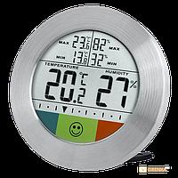 Термометр-гигрометр Bresser Temeo Hygro Circuitu silver (202717)