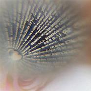 "Кулон Сердечко с проекцией "" Я тебя люблю"" на 100 языках мира (SS-106), фото 4"