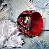 Модный деревянный браслет ручной работы для девушки, Деревянный расписной браслет