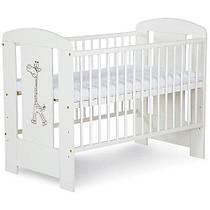 Кроватка детская, Safari Zyrafka Жираф Белая, Klups 1260SFLX