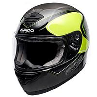 Мотошлем интеграл ISPIDO PULSE color black/fluorescent/gray XL