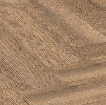 """Ламінат Herringbone Паттерсон Дуб натуральний 4764 """"ялинка"""" вологостійкий 32 клас, 8мм товщина з фаскою"""