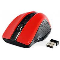 Беспроводная мышка Gembird MUSW-104-R Red, 1600 dpi, компьютерная мышь гембирд для ПК и ноутбука
