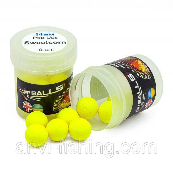 Пробник плавающих бойлов CarpBalls Pop Ups - 14 мм - Sweetcorn (кукуруза)