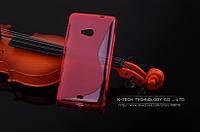TPU чехол для Microsoft Lumia 535 рожевий, фото 1