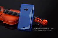 TPU чехол для Microsoft Lumia 535 синий, фото 1