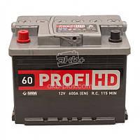 """Аккумулятор SADA 6СТ-60 (12В 60АЧ 600А ) АзЕ Profi HD, 1 """"+"""" слева"""