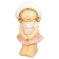 Садовая декорация - девочка, 40*20*19 см, розовый, магнезия (820719-1)