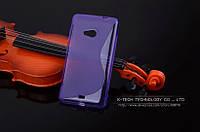 TPU чехол для Microsoft Lumia 535 фиолетовый, фото 1