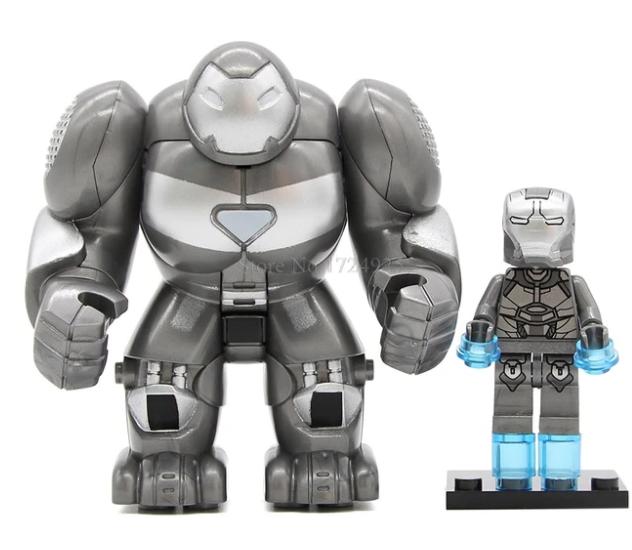 Фигурка большая+маленькая Железный человек Marvel конструктор аналог Лего