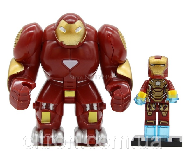 Фигурка большая+маленькая Халкбастер Marvel конструктор аналог Лего