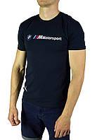 Темно-синяя мужская футболка с рисунком PUMA BMW Motorsport, фото 1