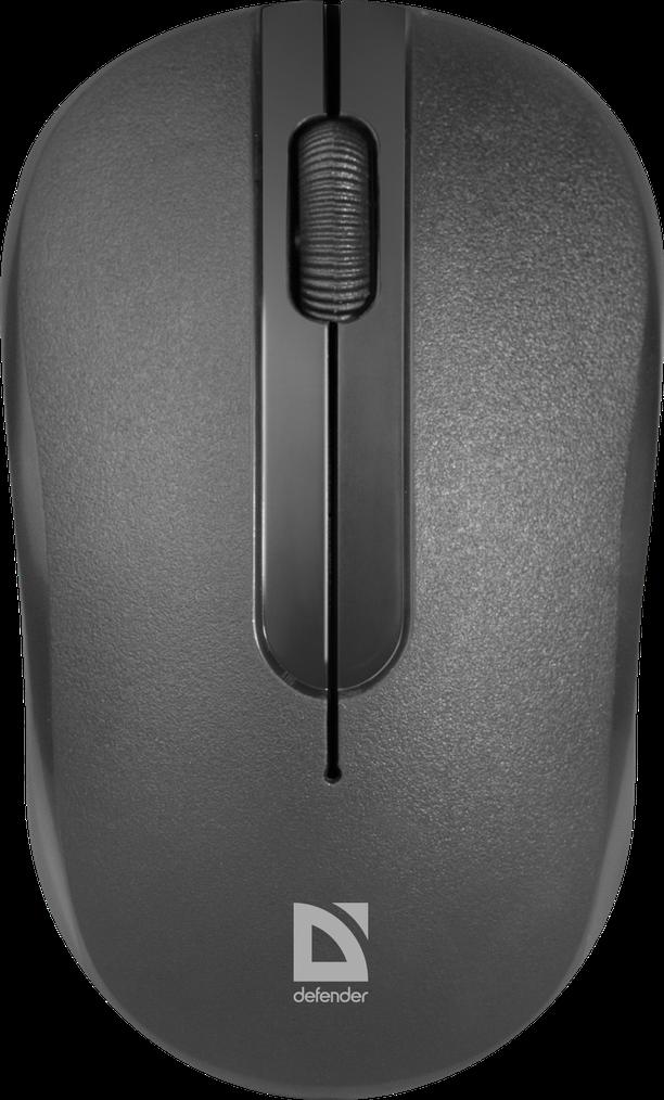 Беспроводная мышка Defender Datum MM-285, Black, компьютерная мышь дефендер для ПК и ноутбука