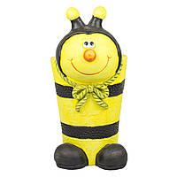 Кашпо декоративное из магнезии - Пчелка желтая (820122-2)