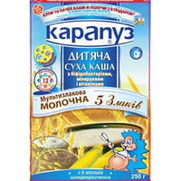Молочная каша Карапуз мультизлаковая 5 злаков с бифидобактериями, витаминами и минералами, 250 г