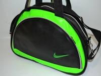 Спортивная  сумка  Nike чёрно салатового  цвета