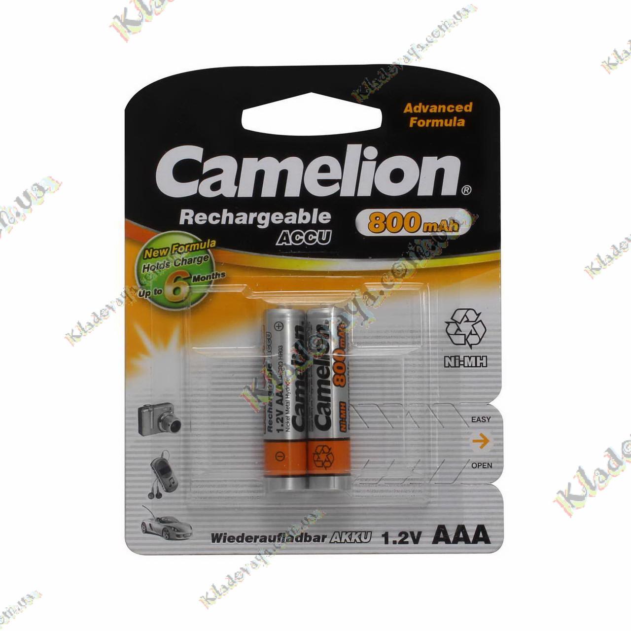 Аккумуляторы AAA Camelion 800 mAh 1,2 V, фото 1