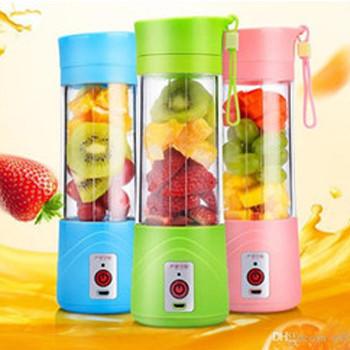 Блендер соковыжималка мини Smart Juice Cup Fruits 380 мл Mini USB (Розовый)