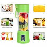 Блендер соковижималка міні Smart Juice Cup Fruits 380 мл Mini USB (Рожевий), фото 2