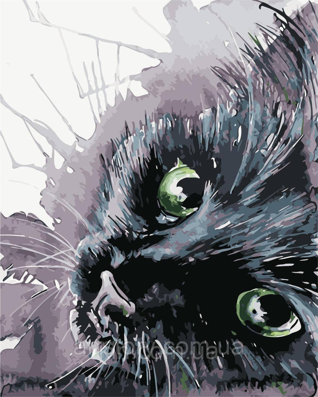 Картина за номерами ArtStory Чорний кіт 40 х 50 см (арт. AS0416)