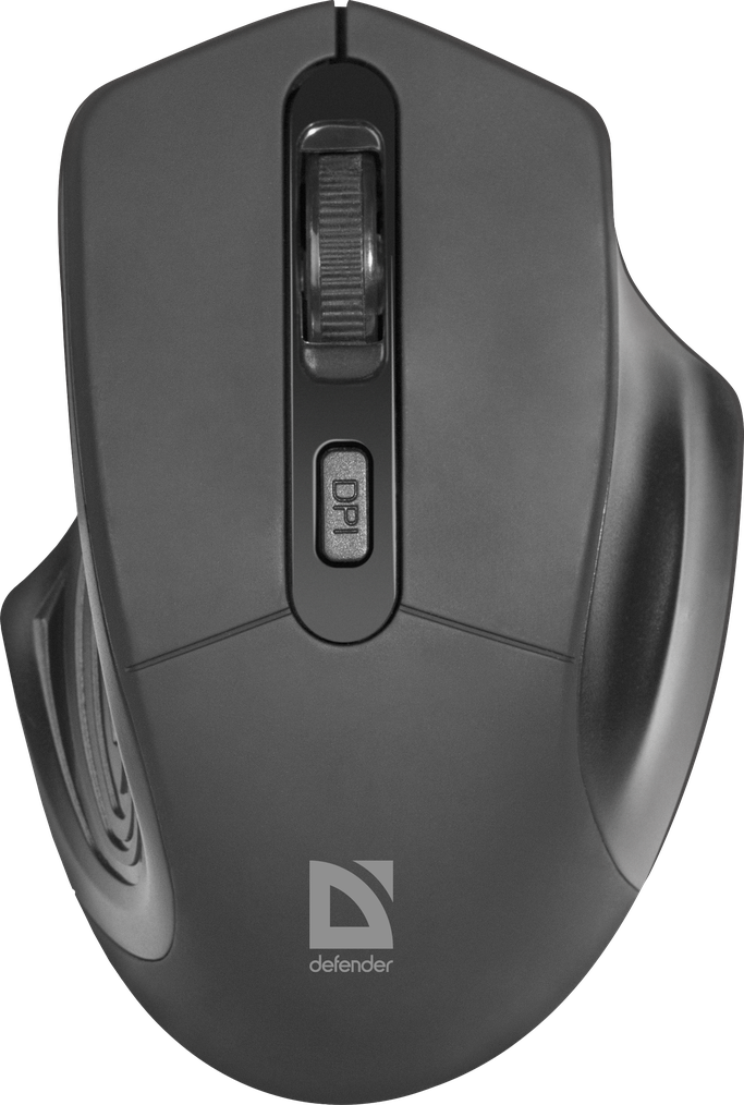 Беспроводная мышка Defender Datum MB-345, Black, компьютерная мышь дефендер для ПК и ноутбука