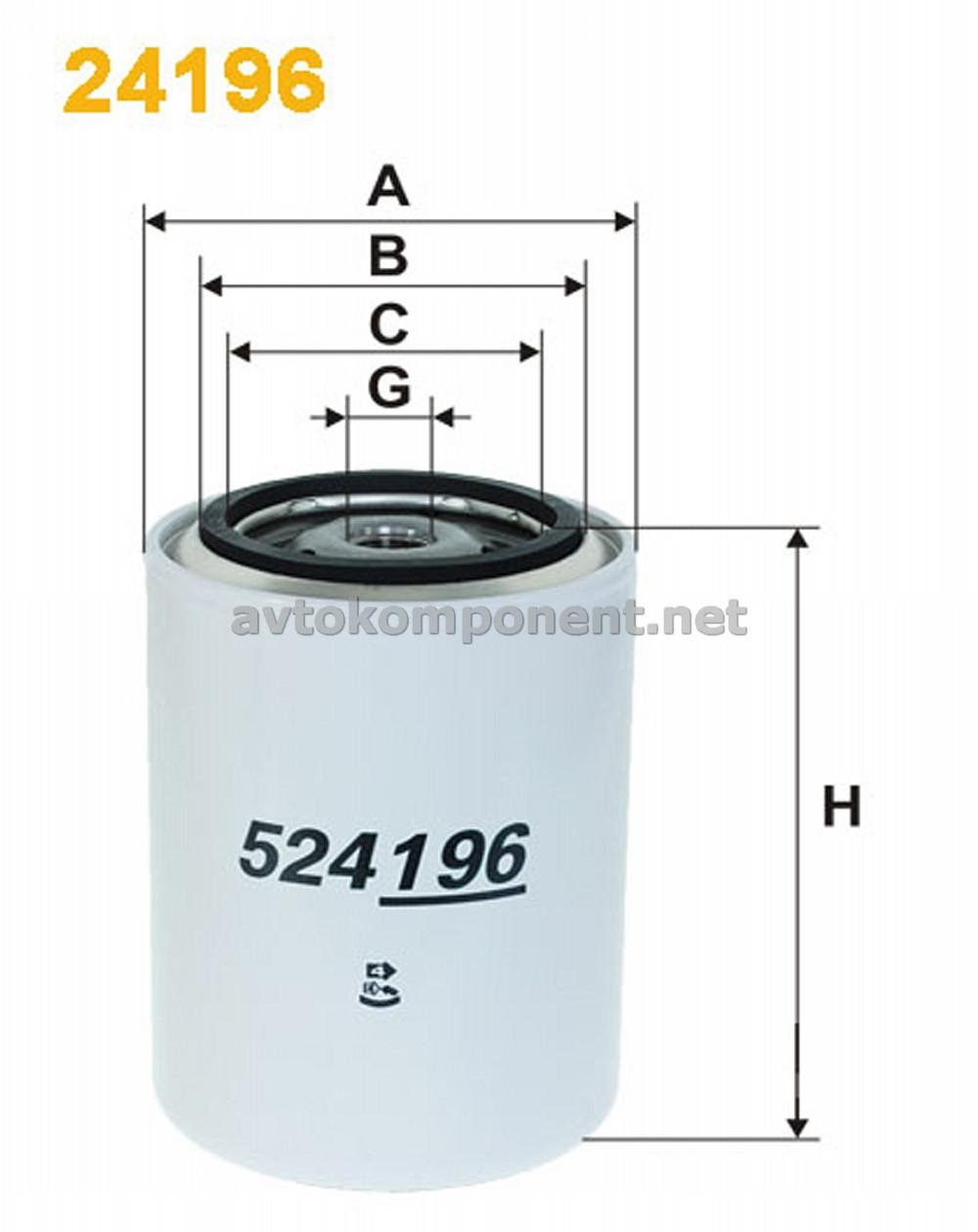 Фильтр для охлаждающей жидкости (производство WIX-Filtron) (арт. 24196), ABHZX