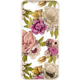 Gelius Flowers Shine for iPhone 7/8 Rose