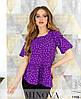 Жіноча блузка в принт горошок 42-56 (в кольорах), фото 6