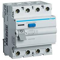 Устройство защитного отключения (УЗО) Hager CD425J- 4x25A, 30mA, A