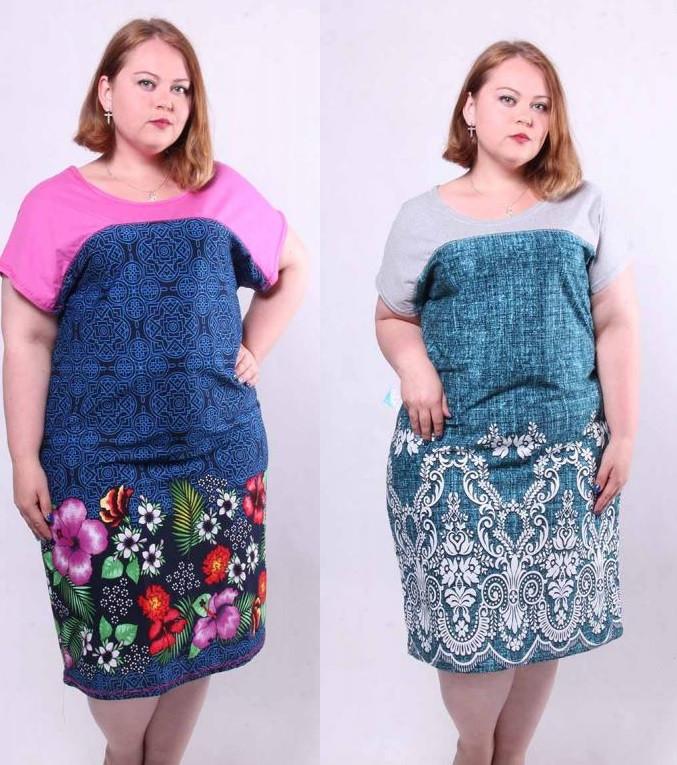 Женское летнее платье с кокеткой Дамочка
