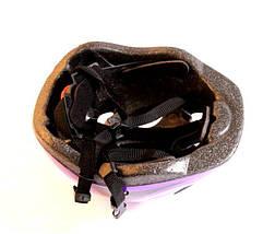 Шлем с регулировкой размера. Фиолетовый цвет., фото 3