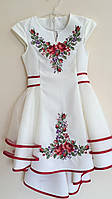 """Сукня сарафан біла вишита """"Квітковий орнамент"""""""