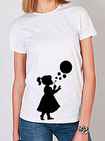 Белая футболка | женская футболка с рисунком |  Уникальные принты на футболках